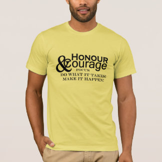 Honour & Courage Mens Basic Yellow T-Shirt