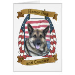 Honour Dog and Country Greeting Cards