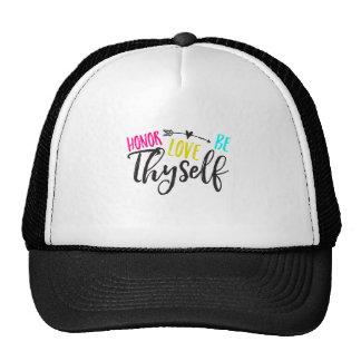 Honour, Love & Be Thyself Hat