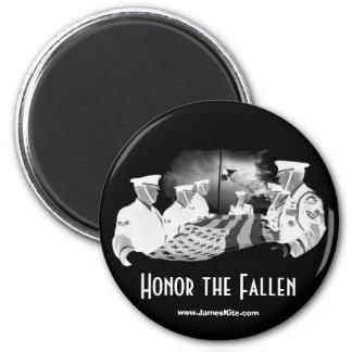Honour the Fallen 6 Cm Round Magnet
