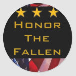 Honour the Fallen Round Stickers