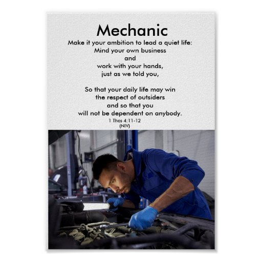 Honour the trades-MECHANIC-1-career education Poster