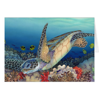 Honu (Green Sea Turtle) Card