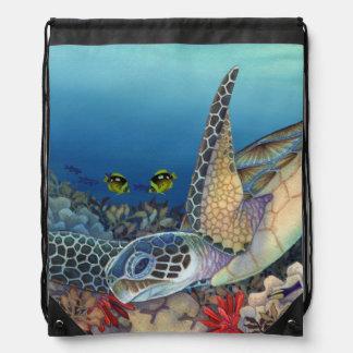 Honu (Green Sea Turtle) Drawstring Bag