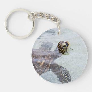 Honu Hawaiian Sea Turtle - Hawaii Turtles Key Ring