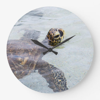 Honu Hawaiian Sea Turtle - Hawaii Turtles Large Clock