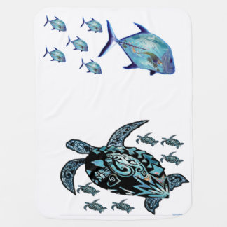 #Honu n #Ulua #Baby Blanket ©#EyeWantItCollection