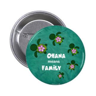 Honu Sea Family_circle 6 Cm Round Badge