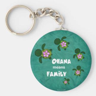Honu Sea Family_circle Key Ring