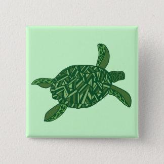 Honu (sea turtle) 15 cm square badge