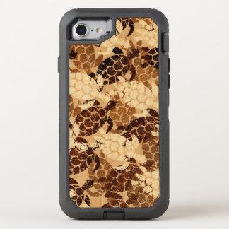 Honu Sea Turtle Hawaiian Aloha Faux Wood OtterBox Defender iPhone 8/7 Case