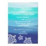 Honu Sea Turtles Couples Baby Shower 11 Cm X 16 Cm Invitation Card