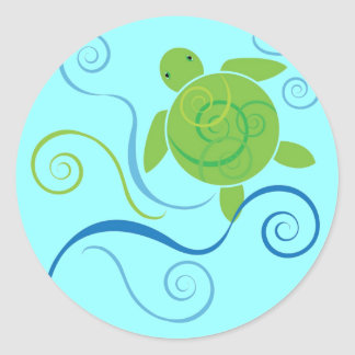 Honu Swirls Sticker