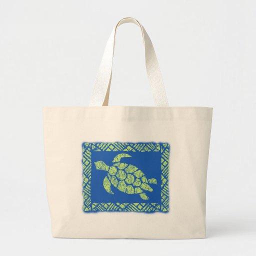 Honu Tapa Hawaiian Beach Bag