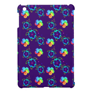 Honu Turtles and Tie Dyed Hibiscus iPad Mini Case