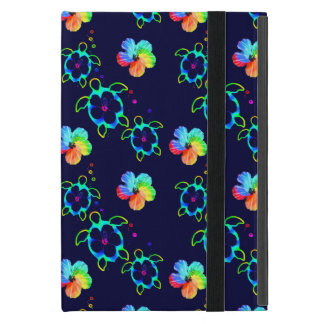Honu Turtles and Tie Dyed Hibiscus iPad Mini Cover