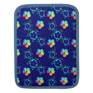 Honu Turtles and Tie Dyed Hibiscus iPad Sleeve