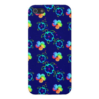 Honu Turtles and Tie Dyed Hibiscus iPhone 5 Covers