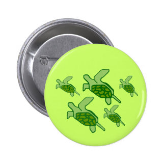 Honus in flight sea turtles button