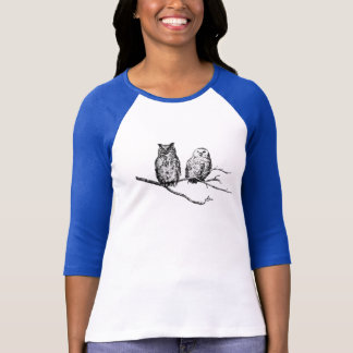 Hoo-Tee Owls Ladies Raglan T-Shirt