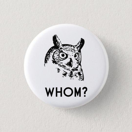 Hoo Who Whom Grammar Owl 3 Cm Round
