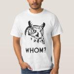 Hoo Who Whom Grammar Owl Shirts