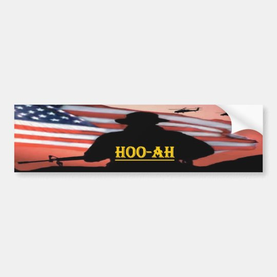 hooah bumper sticker
