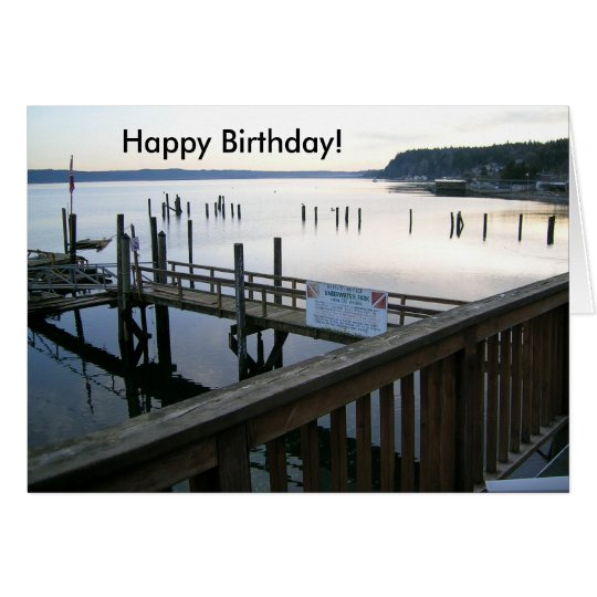 Hood Canal Happy Birthday! Card