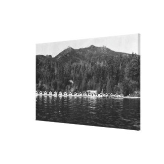 Hood Canal, WA View and Beacon Point Resort Gallery Wrap Canvas