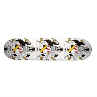 Hood Family Crest Custom Skateboard