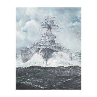 Hood heads for Bismarck 23rdMay 1941. 2014 Canvas Print