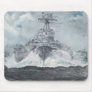 Hood heads for Bismarck 23rdMay 1941. 2014 Mouse Mat