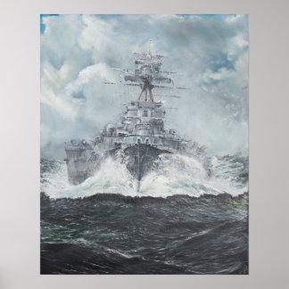 Hood heads for Bismarck 23rdMay 1941. 2014 Poster