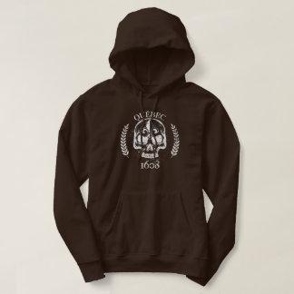 Hood/Hoodie Shows off/Skull Quebec 1608 grunge Hoodie