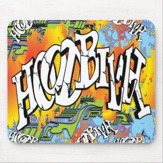 Hoodbilly Techno Splash Graffiti Mouse Pad