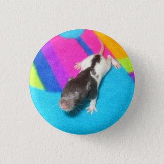 Hooded Baby Rat 3 Cm Round Badge