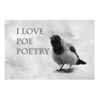 Hooded Crow - I Love Poe Poetry Photograph