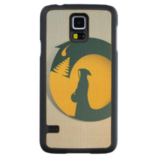 Hooded Figure with Monster Shadow Carved Maple Galaxy S5 Case