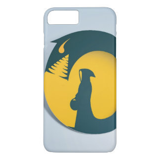 Hooded Figure with Monster Shadow iPhone 8 Plus/7 Plus Case