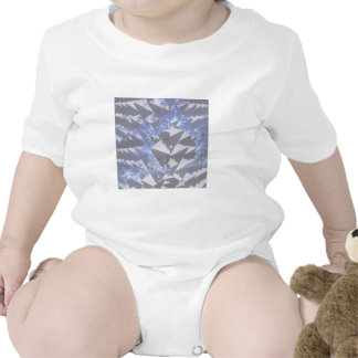 Hooded Fractals 'Your Text Here' Baby Bodysuit