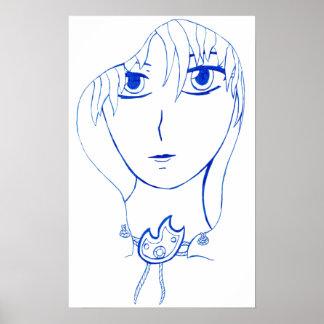 Hooded Girl Print