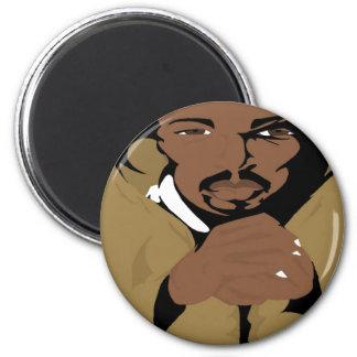Hooded MC 2(Paint.net) 6 Cm Round Magnet
