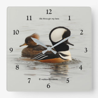 Hooded Mergansers: A Finely Crested Couple Wall Clocks