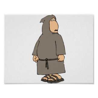 Hooded Monk Poster