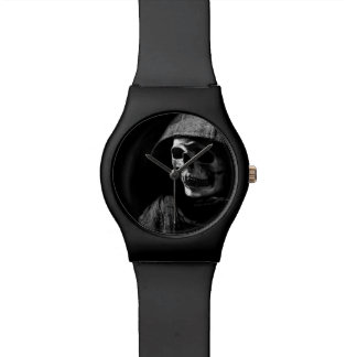"""Hooded Skeleton"" Wrist Watch"