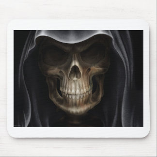 Hooded Skull - Grim Reaper Mouse Pad