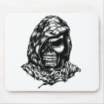 hooded skull mousepad