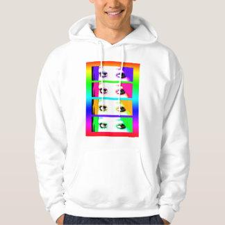 Hooded Sweatshirt - Psychedelic Bright Eyes