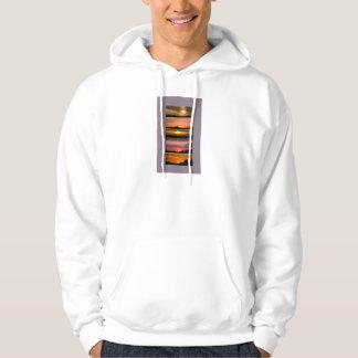Hooded Sweatshirt Sunset Strips purple pink orange