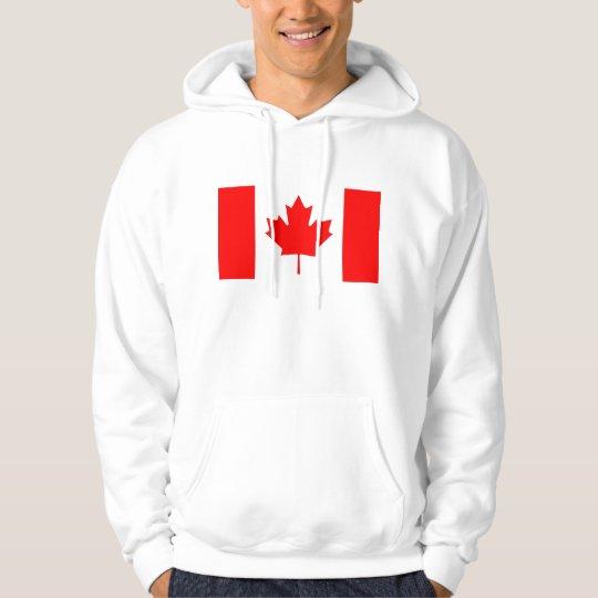 Hooded Sweatshirt with Flag of Canada